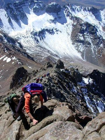 Finishing the South Ridge...