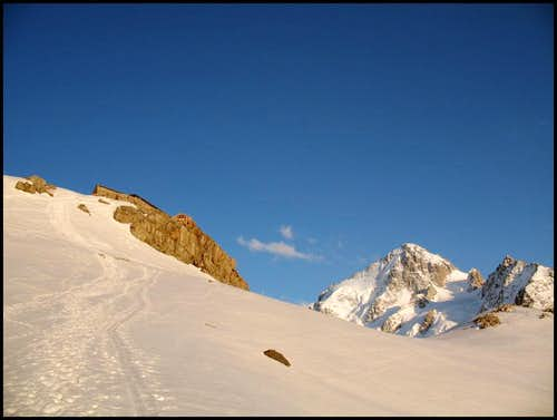 Albert Premier hut and Chardonnet