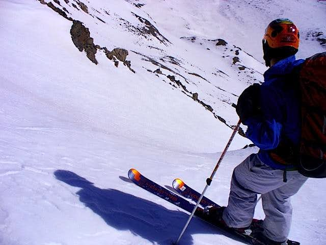 NE face ski descent