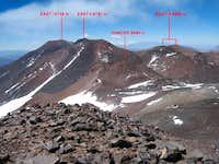Pissis east summits
