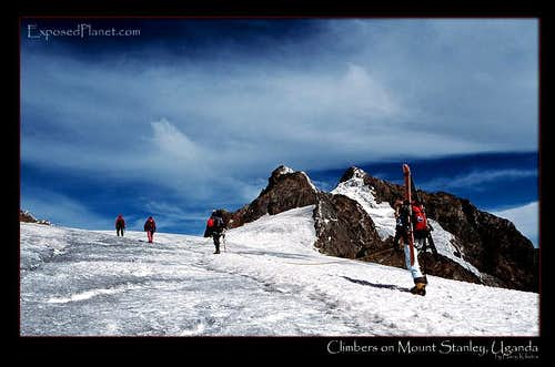 Climbers on Mt Stanley, Rwenzori