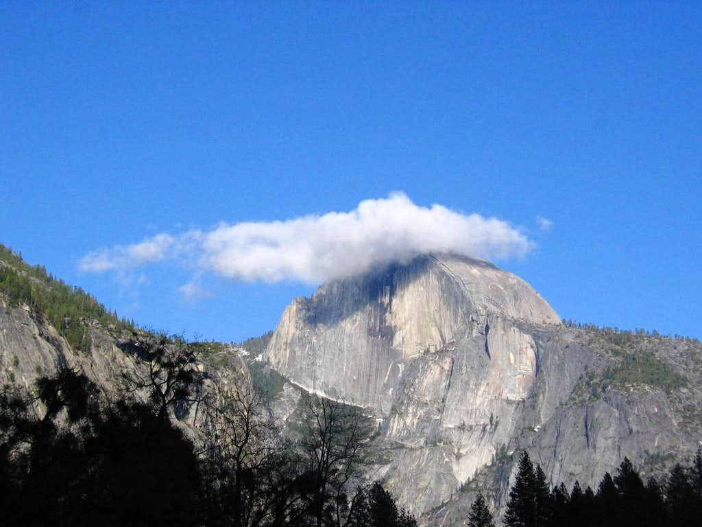 Half Dome and Cloud