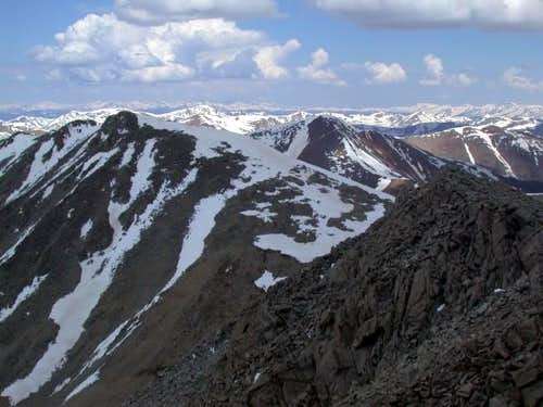 Tabeguache\'s summit (left) as...
