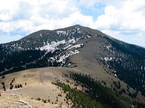 Sierra Blanca from Lookout Mountain summit