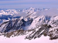 Winter landscape is Hohe Tauern to the South from Ködnitzkees, Grossglockner