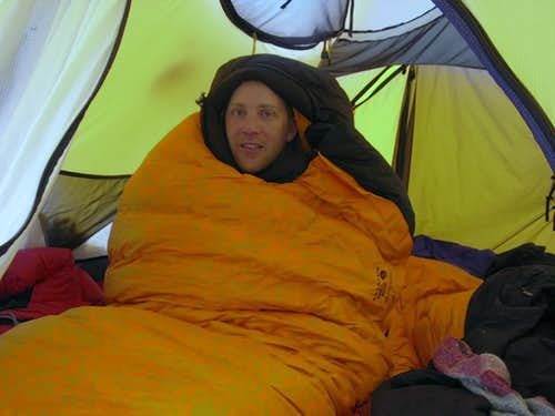 A Cold Day in My Sleeping Bag on Denali