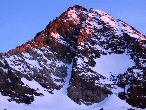 Grossglockner southern-face in sunrise