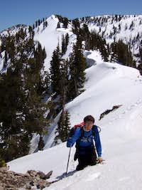 Santaquin Peak's southeast ridge