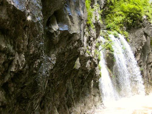 Waterfall on Békás-patak (Froggy-river)