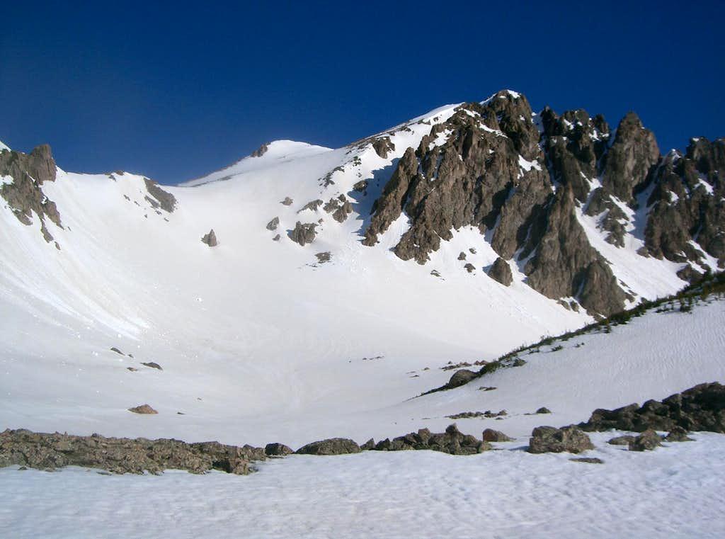 <a href=http://www.summitpost.org/mountain/rock/152655/red-peak.html>Red Peak B</a> & its Upper Southeast Face