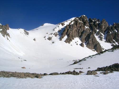 <a href=http://www.summitpost.org/mountain/rock/152655/red-peak.html>Red Peak B</a> & its Upper Southeast Face