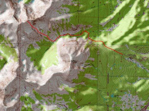 Red Peak B's Southeast Face