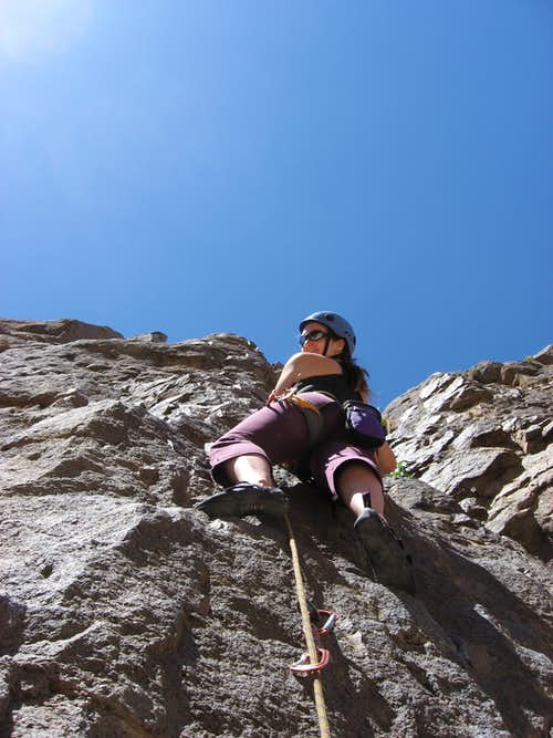 Climbing at the Owen's River Gorge