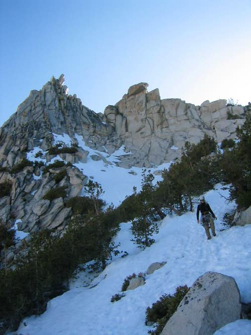 Descending from the North Notch of Cathedral