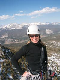 Jen Hopper on the Summit of Cathedral