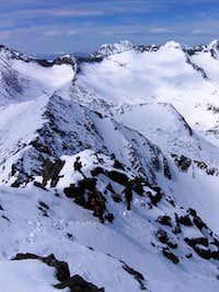 Ascending the west ridge of Crazy Peak