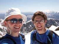 Me and Kent at the summit of Santaquin Peak