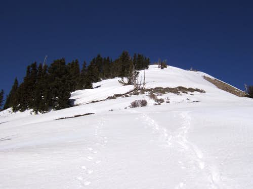 Location on Loafer Mountain to turn left and enter the cirque