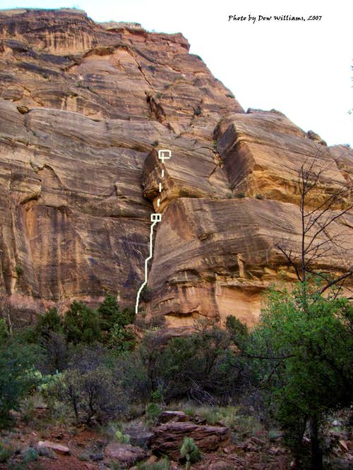 Weeping Rock, 5.7-5.11b