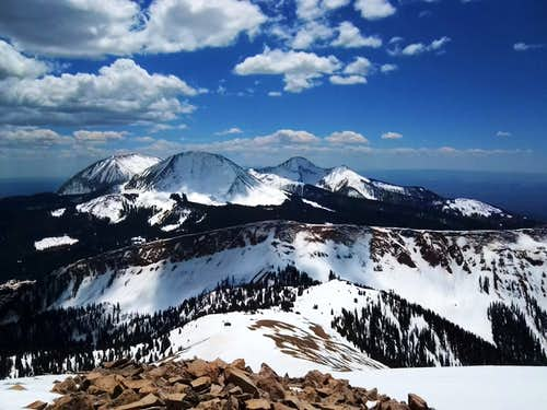 The three highest in the La Sal\'s