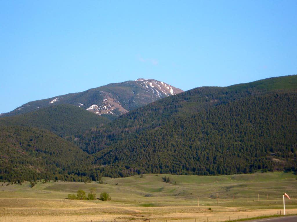 Chico Peak before sundown in May