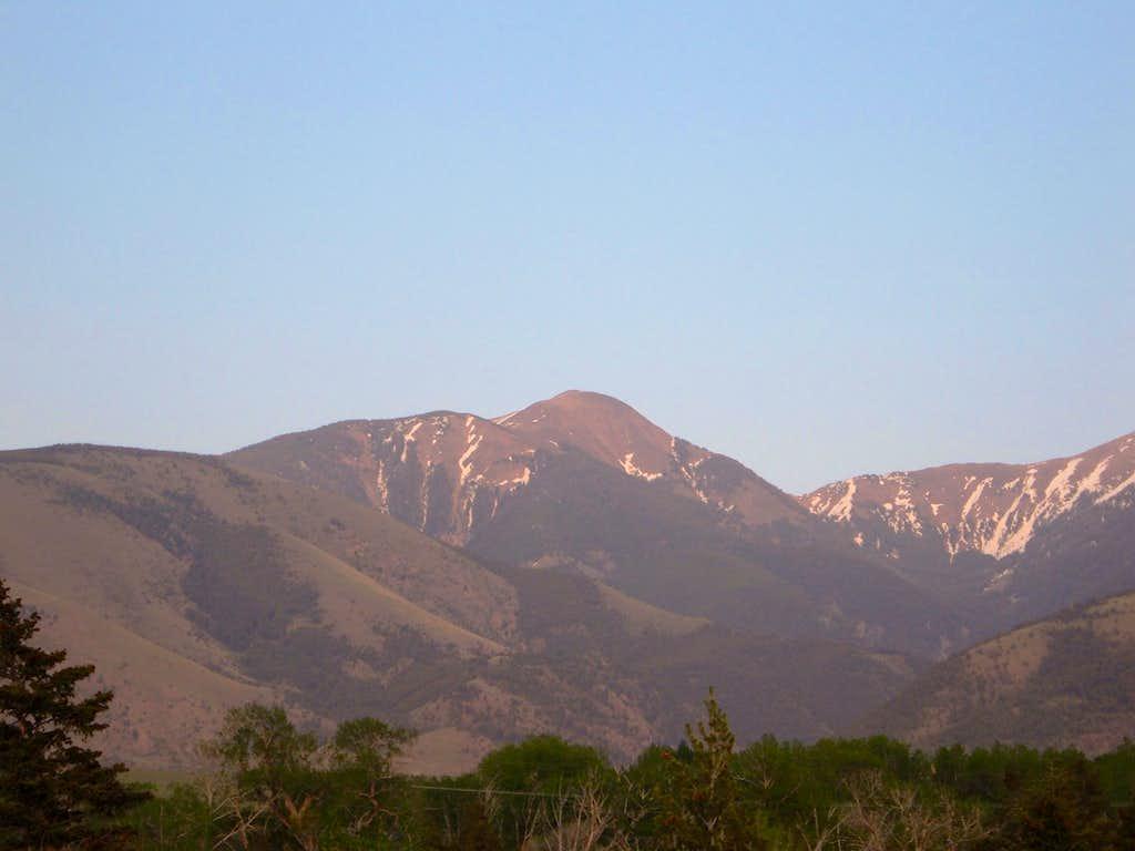 Chico Peak at sundown in May 2007