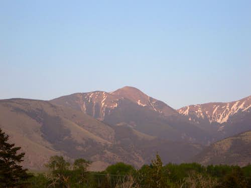 Chico Peak at sundown in May 2007