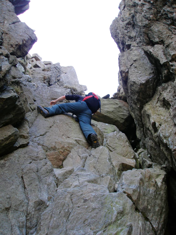 Climbing on the North Ridge