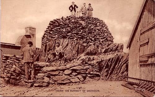 Snowdon Summit Cairn circa 1925