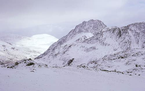 Tryfan from the base of Y Garn