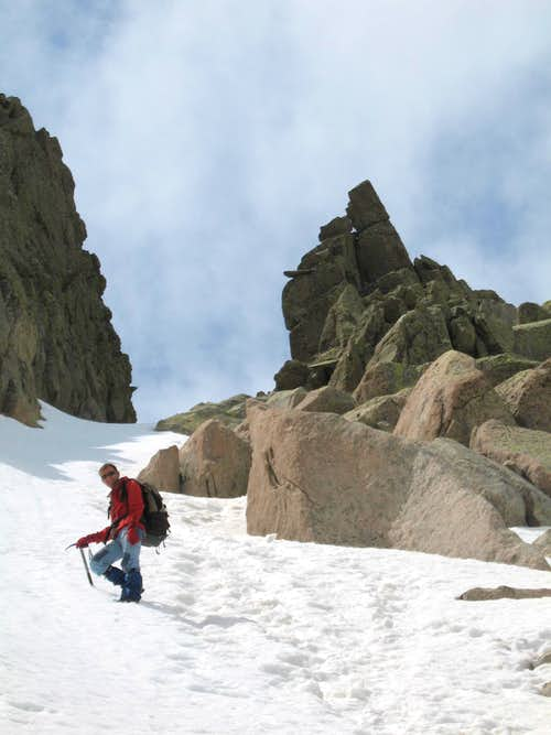 in the couloir close to Rotondo summit