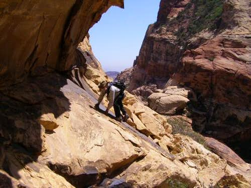 Rock scrambling in Red Rocks