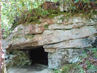 Neat little cave on the East Canyon Rim Trail