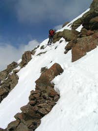 Exit Sneffels Summit Snowfield