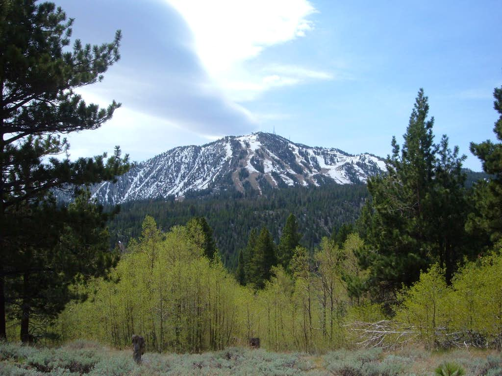 Slide Mountain from the SE Face of Mount Rose Trail