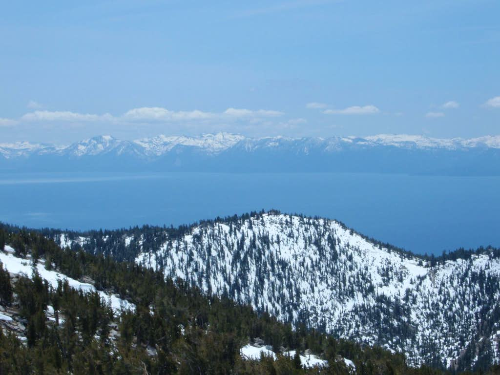 Lake Tahoe from the summit