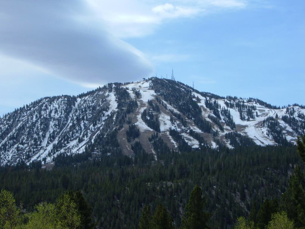 Zoom shot of Slide Mountain
