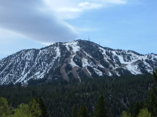 Zoom shot of Slide Mountain