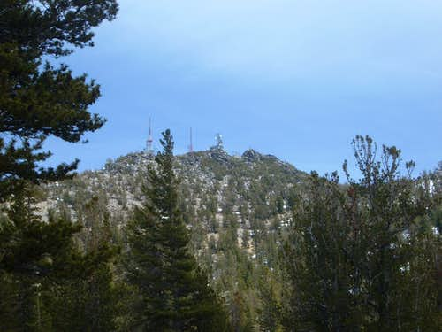 View of the summit from the trail