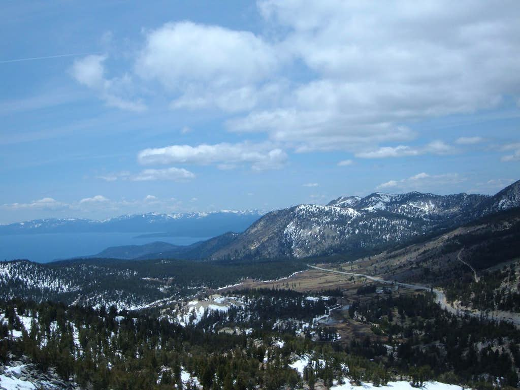 View northwest from Slide Mountain
