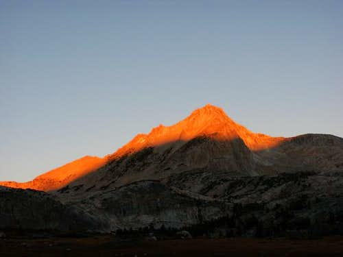 Morning alpenglow on North...