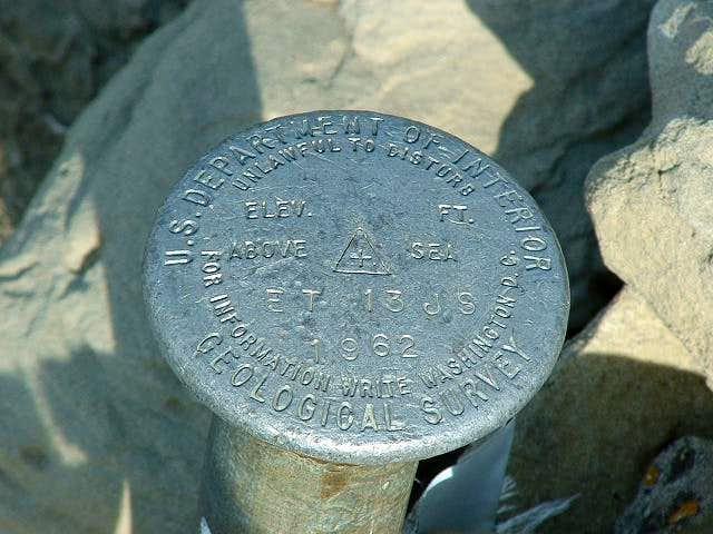 USGS benchmark on White Butte...
