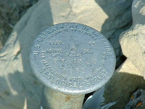 USGS benchmark on White Butte...
