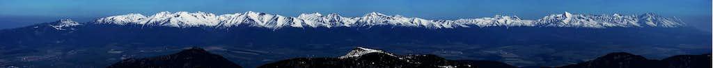 Panorama of Western and High Tatras from Chopok