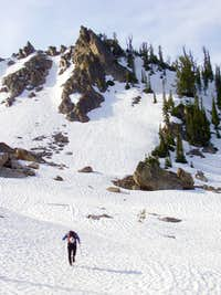 West Face lower snow basin