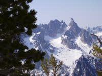 Warbonnet from West Ridge of Baron Peak