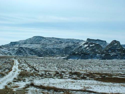 The route up White Butte as...