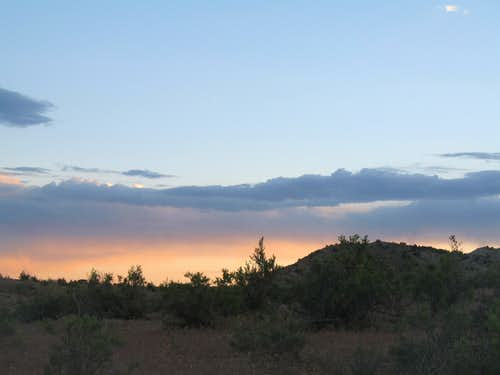 Sunset near McDonald Creek Canyon