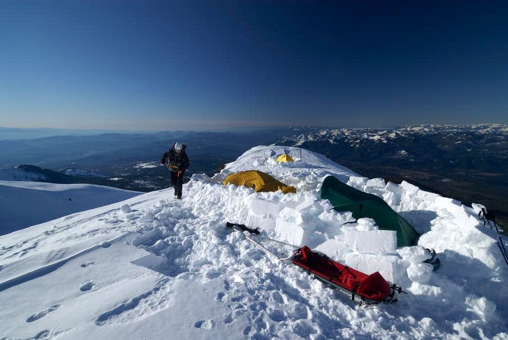 camp at 10,000 feet