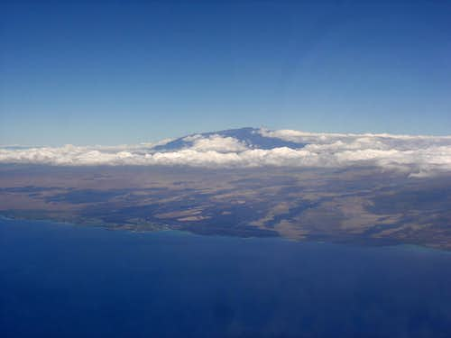 Mauna Kea from the air